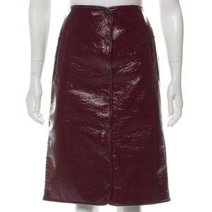 Rag & Bone PVC Vinyl Knee Length Skirt US2